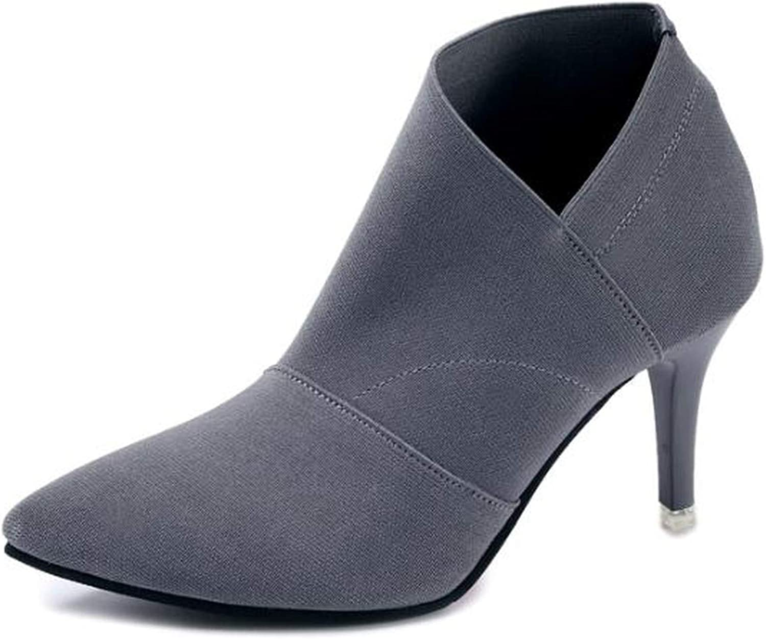 Pointed Toe High Heels Basic shoes Autumn Winter Casual Fitted Outwear shoes