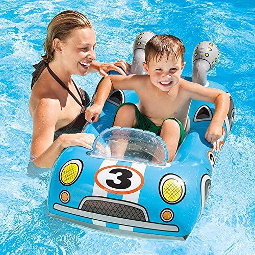 KK Zachary Piscina de verano creativa dibujos animados niños pvc agua juguetes inflables coche aeronaves, peces estilo flotante fila piscina al aire libre 1 * 0,8 m (color: azul)