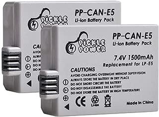 Pickle Power LP-E5 Battery Pack(2-Pack) for Canon EOS 450D, 500D, 1000D, Kiss F, Kiss X2, Kiss X3, Rebel XS, Rebel XSi, Rebel T1i Digital Cameras