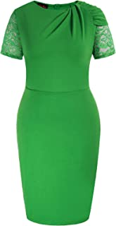Women's Bodycon Dress Midi Pencil Party Office Cocktail Wear to Work Dresses Plus Size