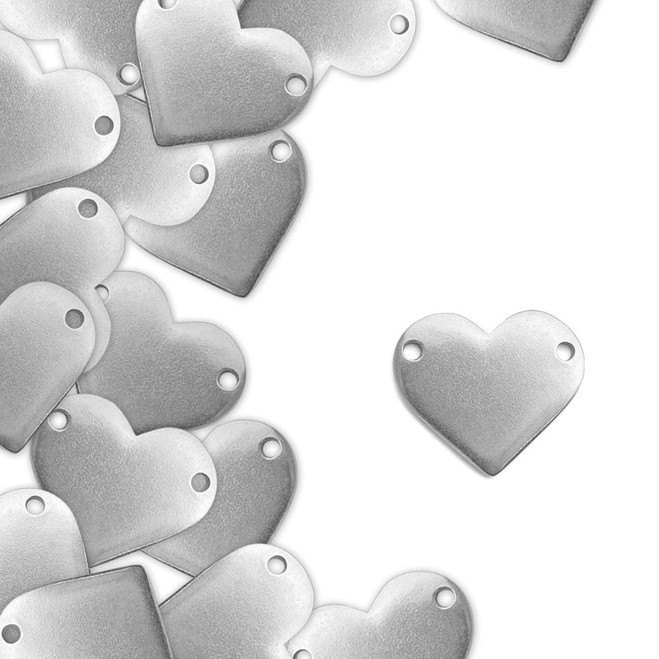 ImpressArt, Pewter Stamping Blanks, Heart w/ Holes, 1
