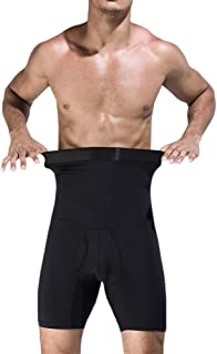 MASS21 Men's Shapewear High Waist Tummy Leg Control Briefs Anti-Curling Slimming Body Shaper