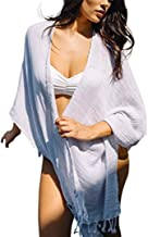 Mer Sea & Co Luxury Beach Wrap with Tote Bag - Light Grey Stripes - 100% Cotton (43