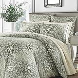 Stone Cottage Abingdon Comforter Set, King, Dark Green