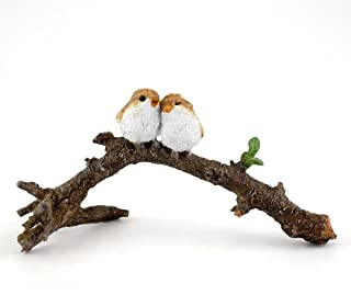 Top Collection 4404 Miniature Fairy Garden & Terrarium Lover Birds on Branch Statue, Small