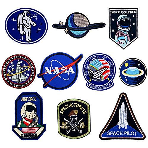 O-Kinee 10PCS Parches NASA Termoadhesivo para la Ropa (10pcs)