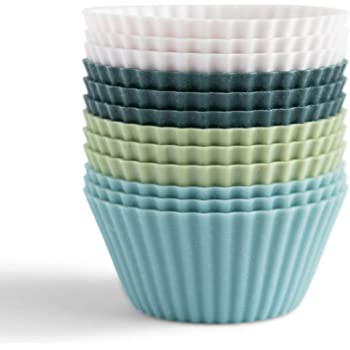 The Silicone Kitchen Reusable Silicone Baking Cups - Pack of 12 | Non-Toxic | BPA Free | Dishwasher Safe