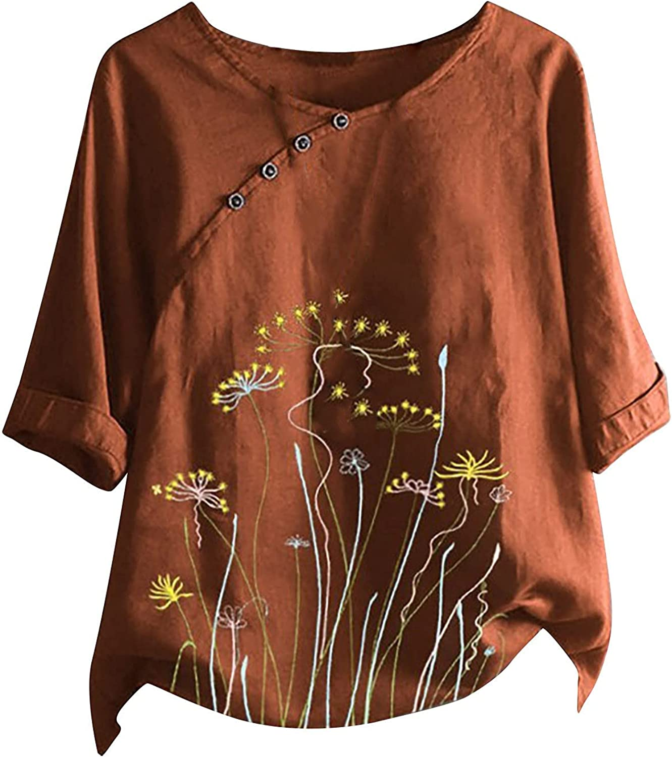 Women's T-Shirt Round O-Neck Short Sleeve Casual Tops Summer Blouse for Women Printed Tunic …