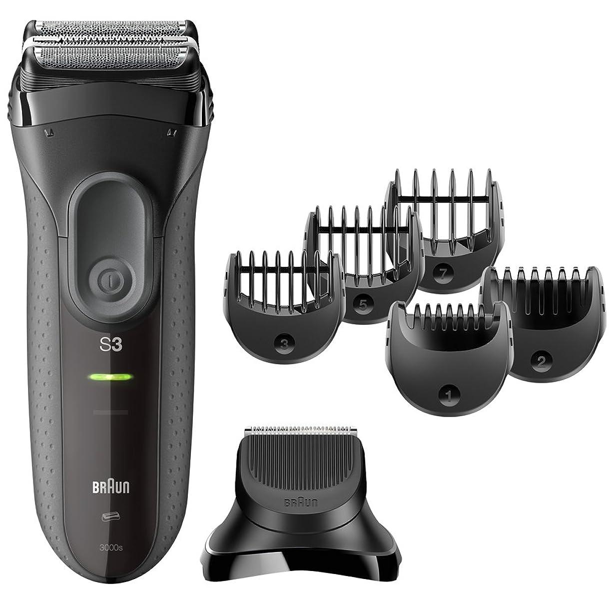 相互アンプブレス【Amazon.co.jp 限定】ブラウン メンズ電気シェーバー シリーズ3 3000s-BT 3枚刃 ヒゲトリマーアタッチメント付 水洗い可