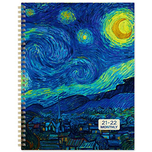 2022 Monthly Planner - 18 Monthly Planner 2022 with Tabs, Jul 2021 - Dec 2022, 9' x 11', 13 Note Pages, Twin-Wire Binding, Two-Side Pocket, Perfect Organizer