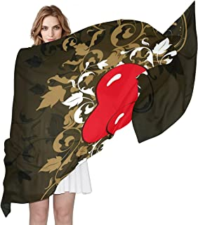 Women Silk Scarf Designer Valentine's Day Personalized for Women Vacation Winter Decor