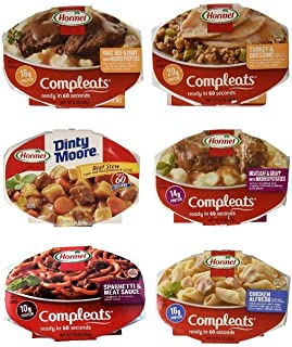 Hormel Compleats Meals – Variety Flavors (6 Count – 7.5 to 10 Ounce..