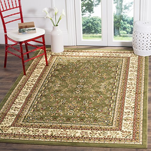 Safavieh Lyndhurst Collection LNH331C Traditional Oriental Non-Shedding Stain Resistant Living Room Bedroom Area Rug, 8' x 11', Sage / Ivory