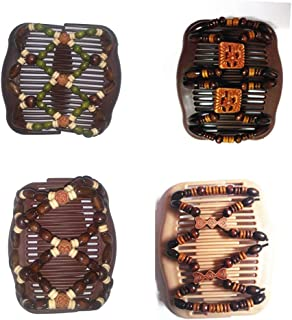 Lovef Thick Hair clip combs hair accessories for girls bun hair - Bun Maker- Best hair accessories for Women -Easy Updo- Doesn't slide out of your hair - Holds long, short -Waterproof (4PCS)