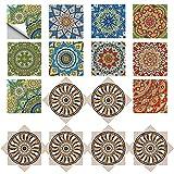 MEZHEN Pegatinas de Azulejos de Cocina Marroquí Autoadhesivo Azulejo Adhesivos Pared Multicolores...