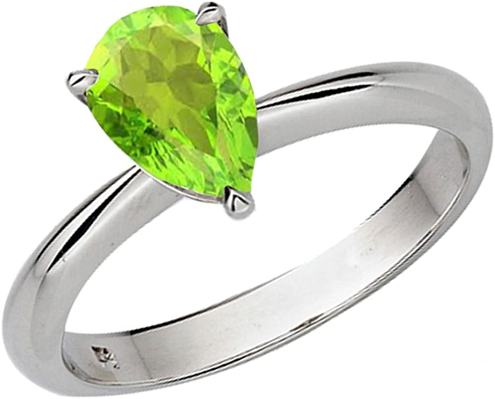 National uniform free shipping Dazzlingrock Collection 10K Special price for a limited time Gold 97mm Peridot Ladies Cut So Pear