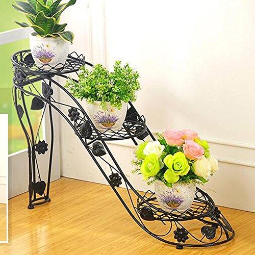 XIAOLIN- fer racks de fleurs Des couches multiples Type de talons hauts Rack pot de fleur Intérieur et extérieur salle de séjour balcon créatif étagère Fleur --Cadre de finition de fleurs ( Couleur : 1 , taille : 66*25*54cm )