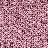 Schwerer Woll-Mischstoff Punkte 145 cm grau auf rosa