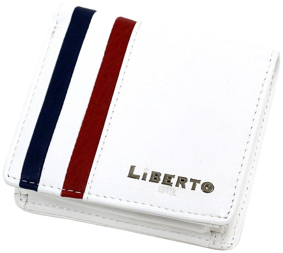 魅了するスリンク達成[リベルト エドウィン] 財布 二つ折り財布 ボックス型小銭入れ トリコロール メンズ