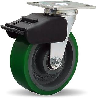 "1200 lbs Capacity W-620-D-3//4 6/"" x 2/"" Duralast Polyurethane on Cast Iron Wheel"