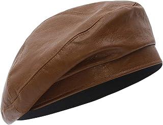 Jelord Sombrero Boina Mujer PU Moda Sombrero Al Aire Libre Accesorios Parisina Francesa Vintage Gorro Primavera Otoño Invi...