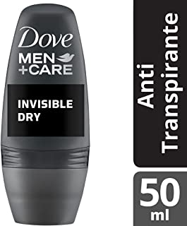 Desodorante Antitranspirante Roll On Men e Care Invisible Dry 50 ml, Dove, Branco