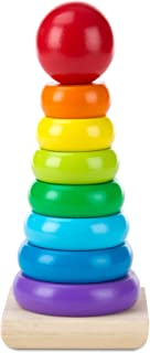 لعبة رص الحلقات بألوان قوس قزح التعليمية من مليسا اند دوغ