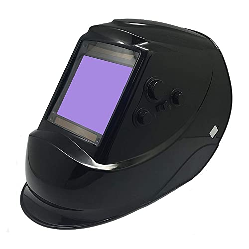 Solar Power Welding Helmet 810H - ANSI Approved Auto Darkening Hood with High Optical Class 1