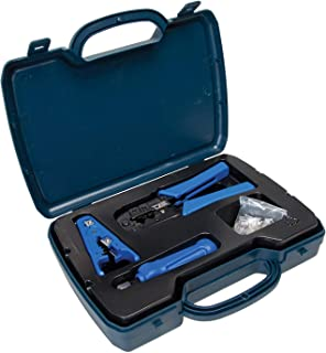 DataShark PA70007 Complete Network Tool Kit by Tempo Communications - Install and Maintain Computer Networks - Includes Crimper, Cable Stripper, Punchdown Tool, RJ45 Connectors