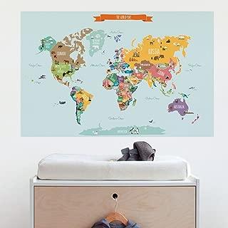 Best wall art world map sticker Reviews