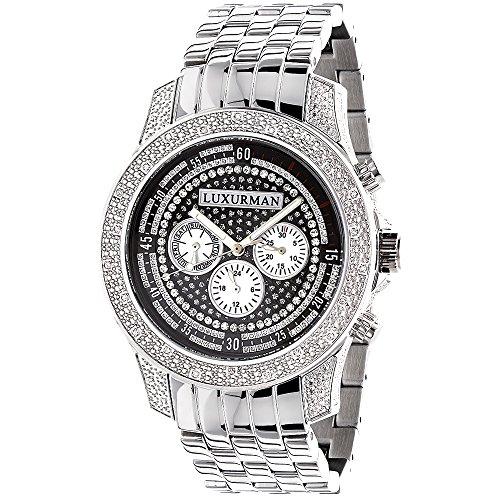 Mens Diamond Watch: LUXURMAN 0.50ct