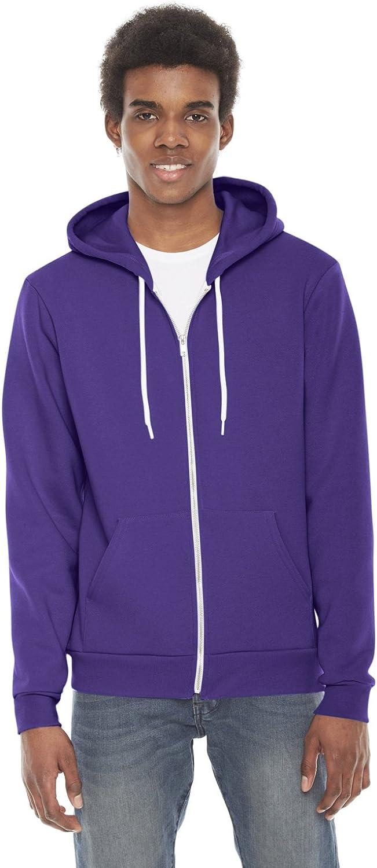 American Apparel F497W Unisex Flex Fleece Zip Hoodie, Purple, XXSmall