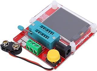 BLLBOO Medidor de transistores multifunción - Medidor de transistores multifunción Probador de Pantalla gráfica TFT DC9-12...