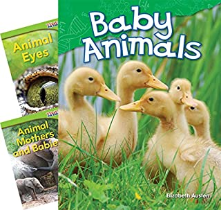 Teacher Created Materials - Classroom Library Collections: Animals - 3 Book Set - Grades K-1 - Guided Reading Level A - E