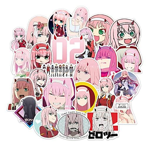 BAIMENG Imagen de dibujos animados niña corazón regalo anime teléfono móvil decoración impermeable etiqueta engomada paquete 100 hojas