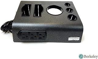 Berkeley Salon Desktop Table Top Appliance Instrument Holder Blow Dryer Curling Flat Iron Organizer With Outlets