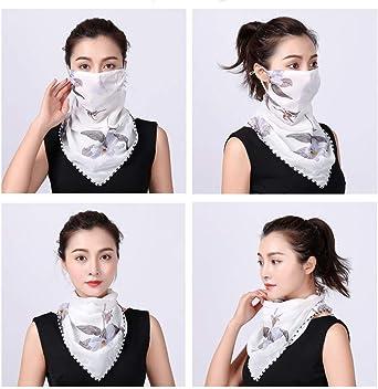 Keleily Mascarilla Bandana Mujer 2 Piezas Bufanda Bandana Transpirable Pañuelos Cabeza Mascarilla Mascarilla Facial a Prueba de Polvo, Protección ...