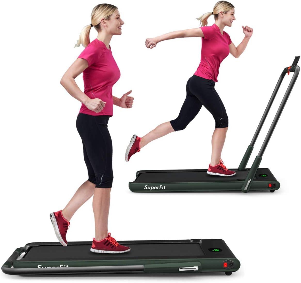 GYMAX 5 ☆ very popular Folding Treadmill 2 in 1 Mach Electric Max 55% OFF Desk Running Under