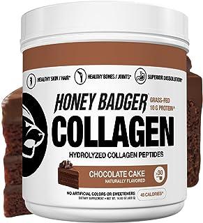 Honey Badger Natural Keto Collagen Peptides Protein Powder