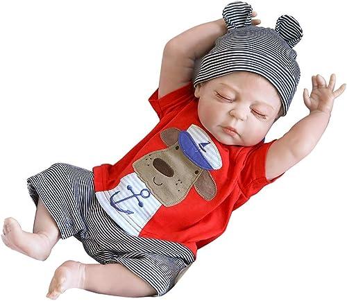 0Miaxudh Reborn-Puppe, 46cm handgemachtes wirkliches schauendes neugeborenes Baby, Reborn-Puppe, Schlafenspielzeug, Kindergeschenke
