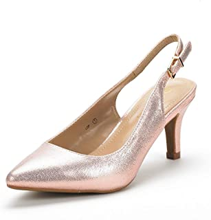 DREAM PAIRS Women's Wings Slingback Kitten Heels Dress Pump Shoes