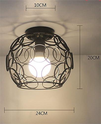 T-Tonranp Plafonniers Vintage Lustre LED Plafonnier Loft Fer Cage Fixtures éclairage à La Maison pour Le Salon 13