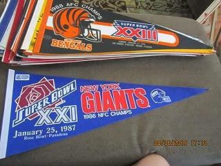 1987 New York Giants Superbowl XXI pennant em
