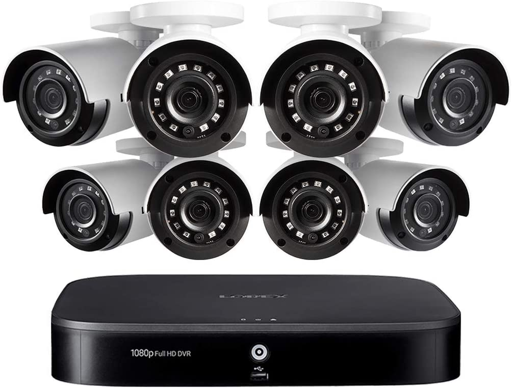 Lorex 1080p HD 8-Channel Security System with Eight 1080p HD Weatherproof Bullet Security Camera and Advanced Motion Detection
