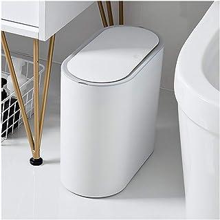 trash can kitchen القمامة البيضاء للقمامة وخفيفة الوزن ومتطور يمكن أن تضاعفها، صناديق القمامة المنزلية والمطبخ والحمام مع ...