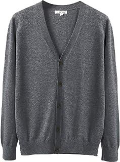 ODFMCE カーディガン メンズ Vネック セーター ニット 無地 綿 春秋 ビジネス 大きいサイズ