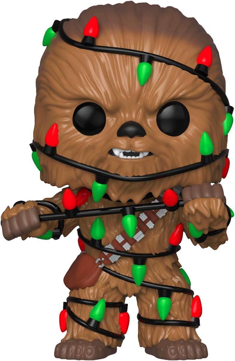 Bobble Star Wars POP Holiday Chewbacca w// Lights