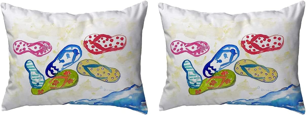 Betsy Drake Store KS154 Sales of SALE items from new works Throw Pillow 2 x 12 Multi inches