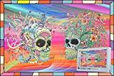 Geekpuz 1000 Piece Floral & Mechanical Skull Puzzle for Adult Colorful Wooden Jigsaw Puzzle