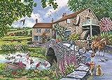 QBTE The House of Puzzles Puzzel Van 1000 stukjesndash;Oude molen - puzzelsets voor Familie, kartonnen puzzels, educatieve spellen